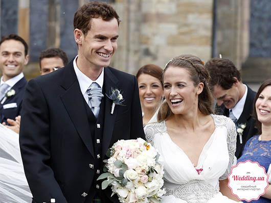 Теннисист Энди Маррей и его жена Ким Сирс