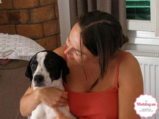 голландка и ее пес