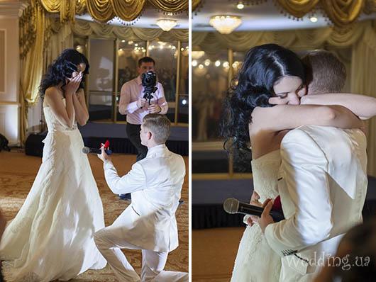 Предложение руки и сердца на главной сцене Бала открытия свадебного сезона, Свадебный бал