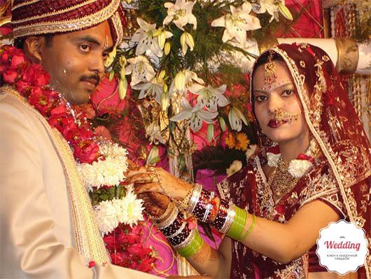Церемония бракосочетания в штате Уттар-Прадеш