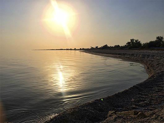 Остров Джарылгач - закат