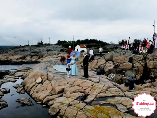 свадебное торжество на маяке