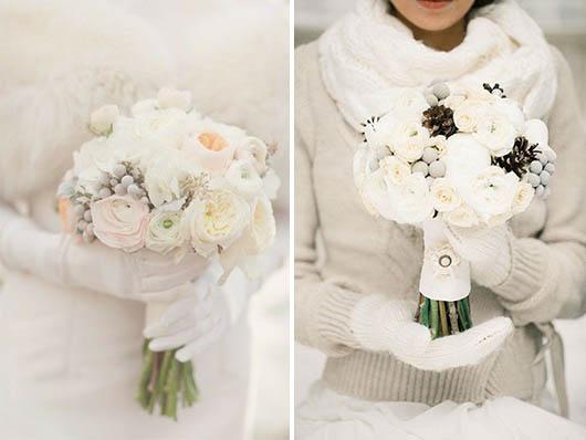 Украшение зала цветами зимой