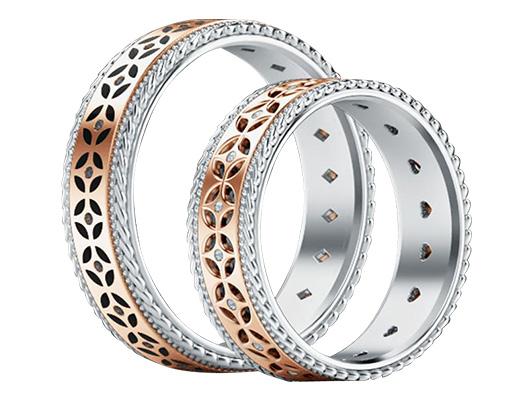 обручальные кольца, тренды, diamond of love