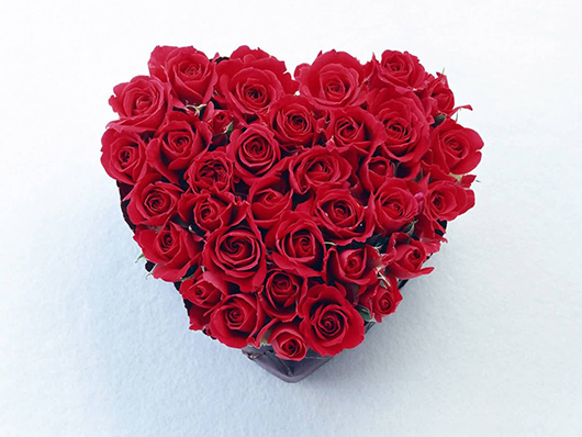 Сердце из роз