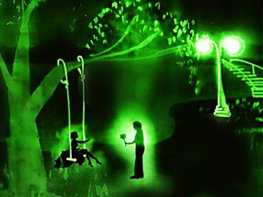 шоу световой анимации от обаятельной Аззы Катерины