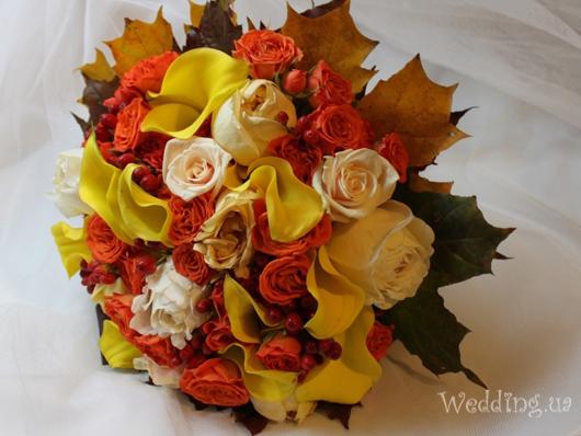 Oсенние свадебные букеты