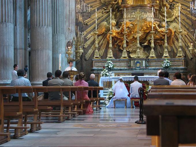 Венчание в католическом храме