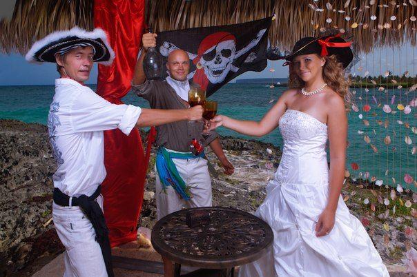 свадьба в пиратском стиле