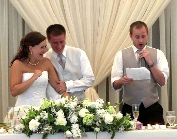 Тост на свадьбу молодым от свидетельницы на