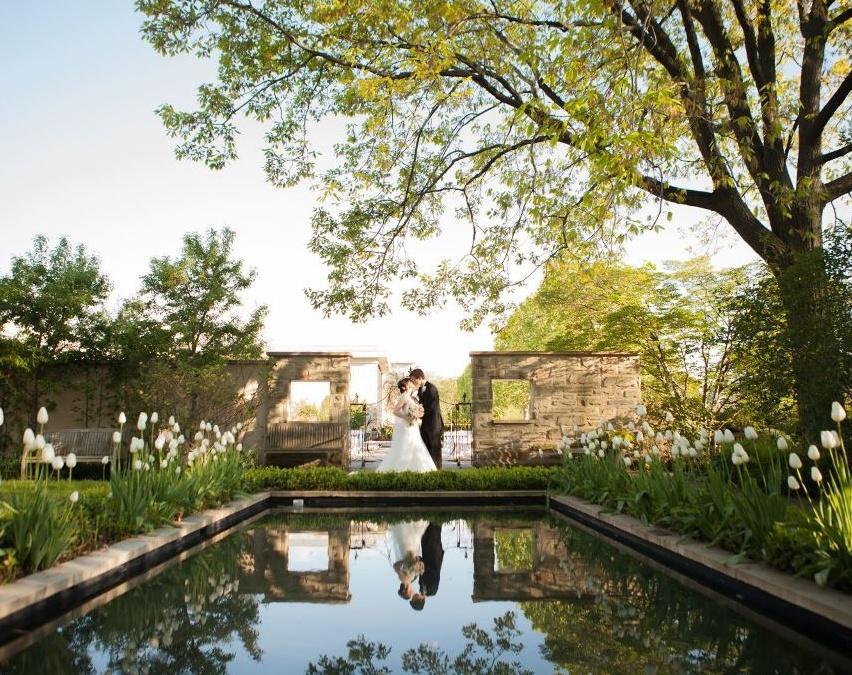 свадебная фотосьемка в крытом ботаническом саду