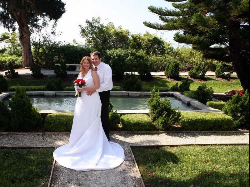 свадебные фото в саду