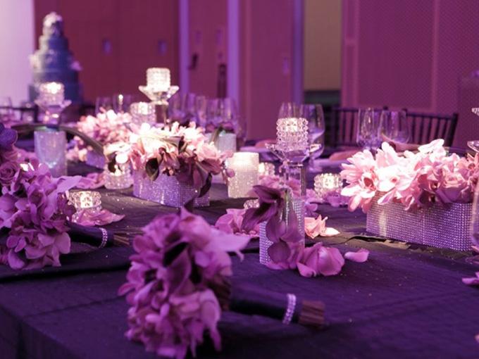 Оформление свадьбы в фиолетовом