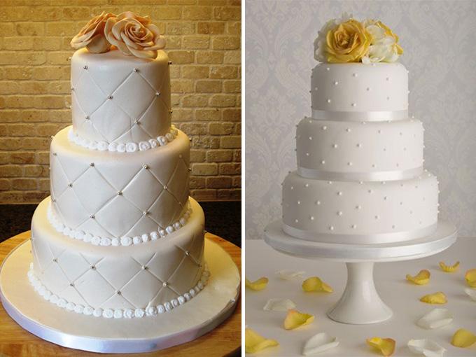 Трехъярусный свадебный торт