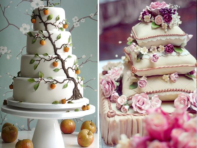 Оригинальный торт свадебный фото