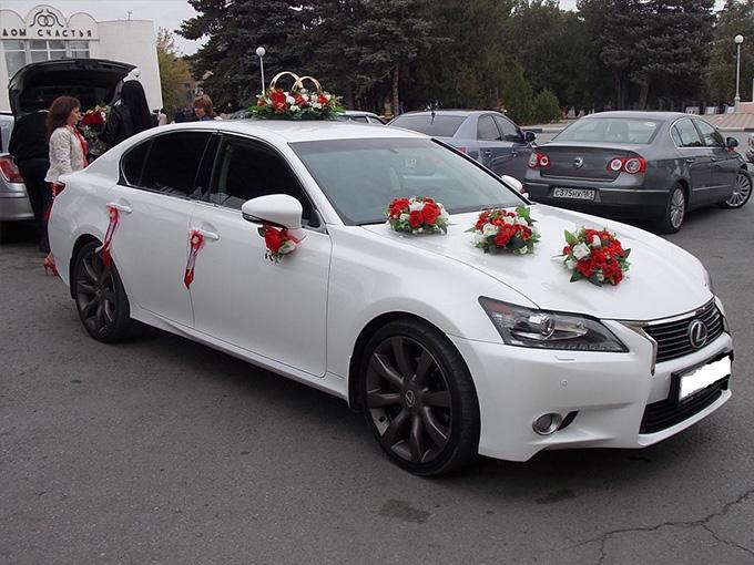 Белый лексус на свадьбу-1