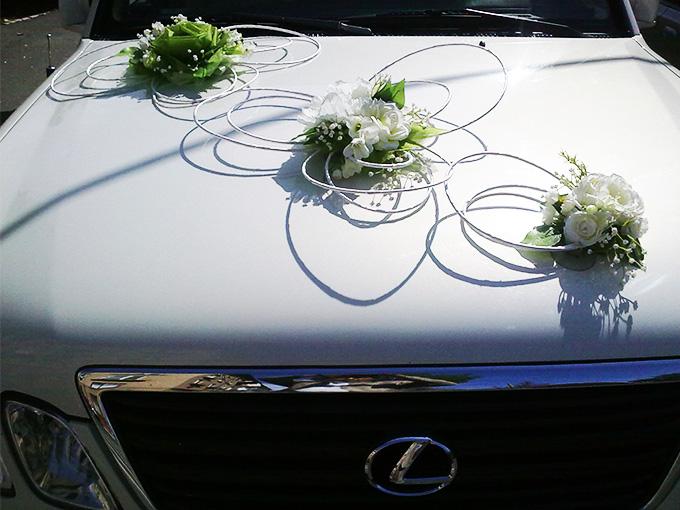 Белый лексус на свадьбу