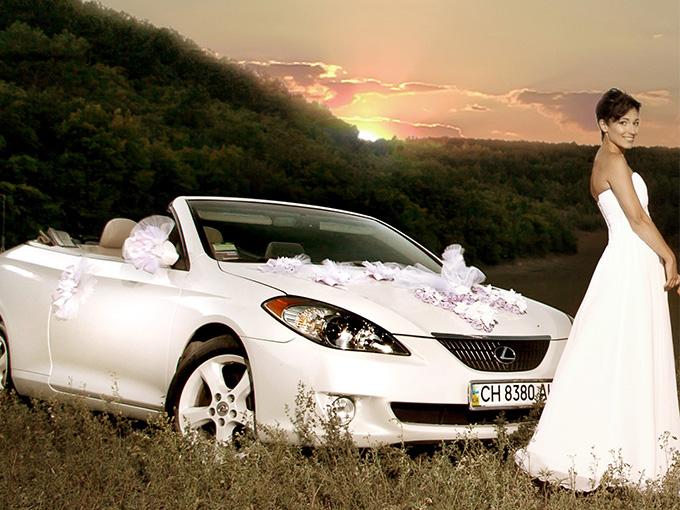 Свадебный автомобиль с откидным верхом