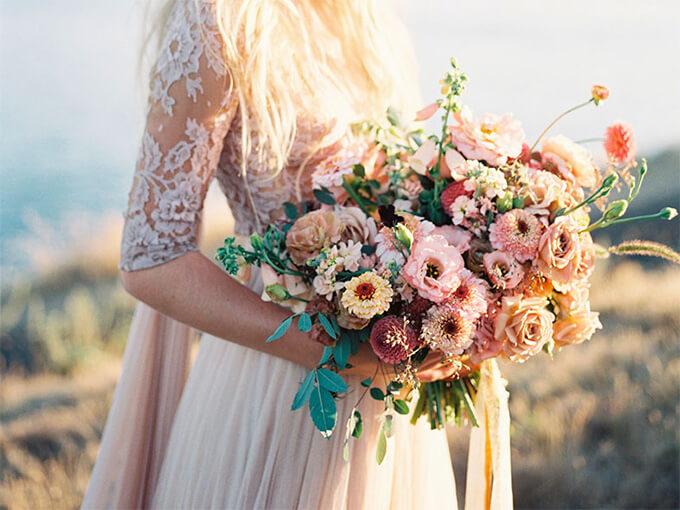 Свадебный букет невесты в греческом стиле