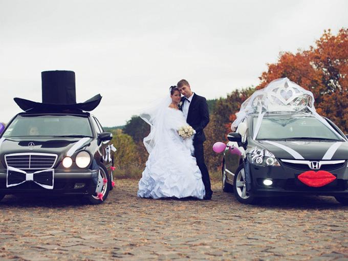 наклейки на свадебный автомобиль
