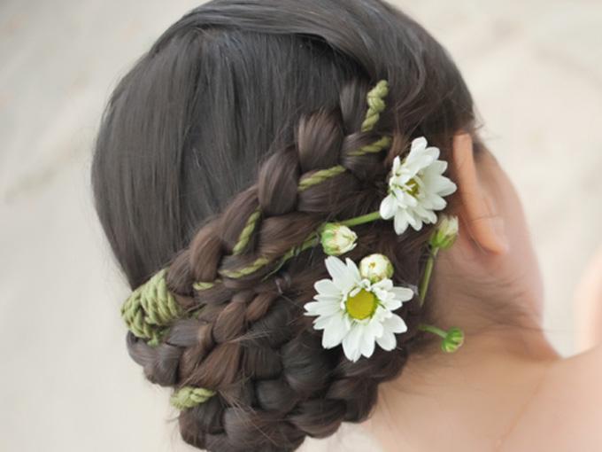 Французская косичка для невесты