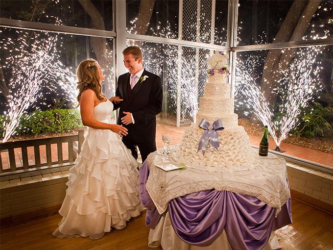 Свадебный салют-фонтан
