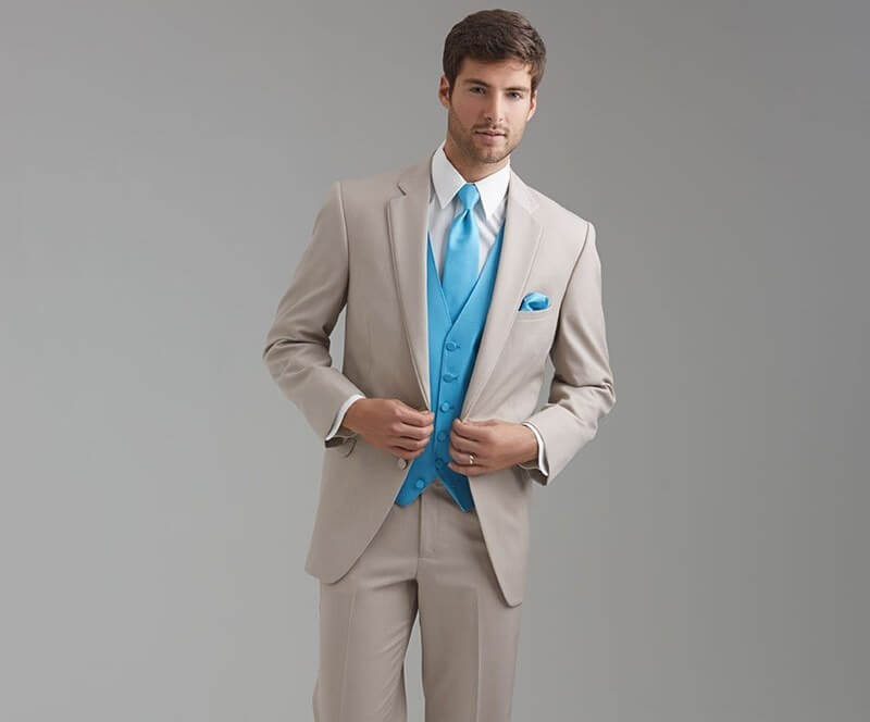 Mens blue suit wedding