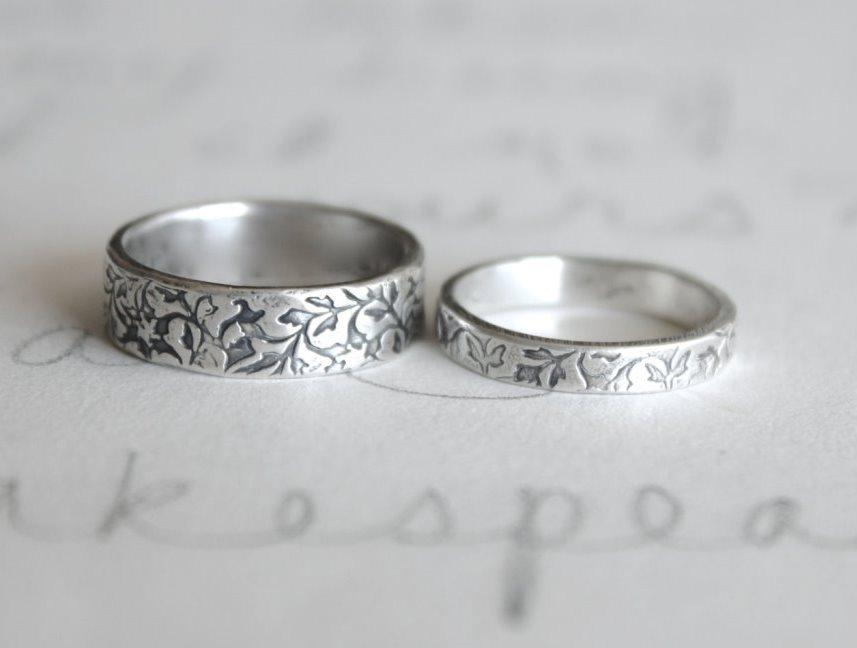 8299c407f896 Серебряные свадебные кольца   Wedding.ua