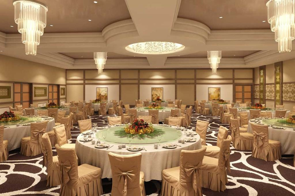 Расстановка столов на свадьбе в европейском стиле