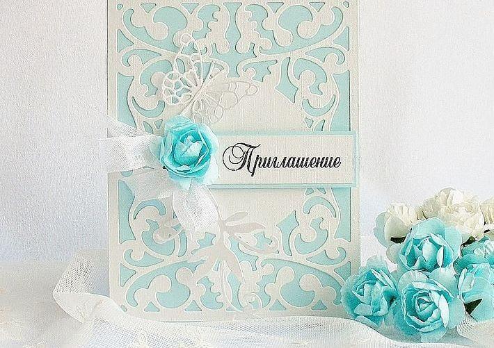 Декорирование свадебных пригласительных цветами
