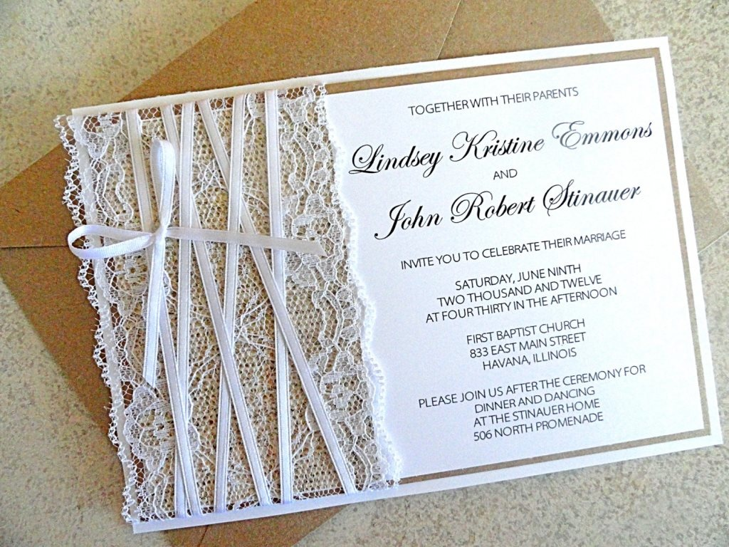 Стиль свадебных пригласительных