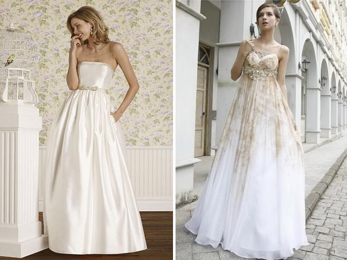 Фасоны свадебных платьев по фигуре