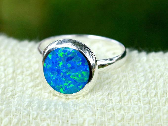Кольцо с камнем агат