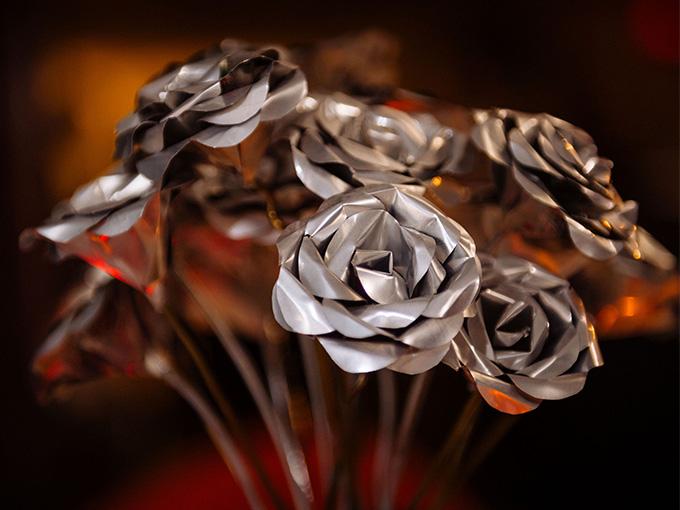 Цветы из железа
