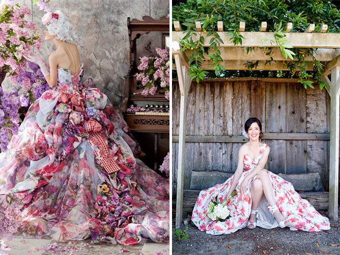Платья с яркими принтами