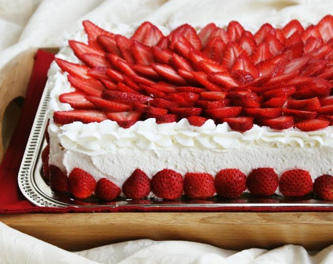 Торт на летнюю свадьбу