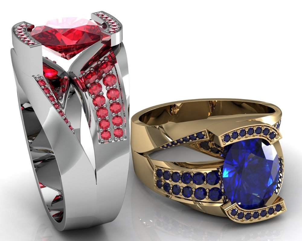 Цветные бриллианты в помолвочных кольцах