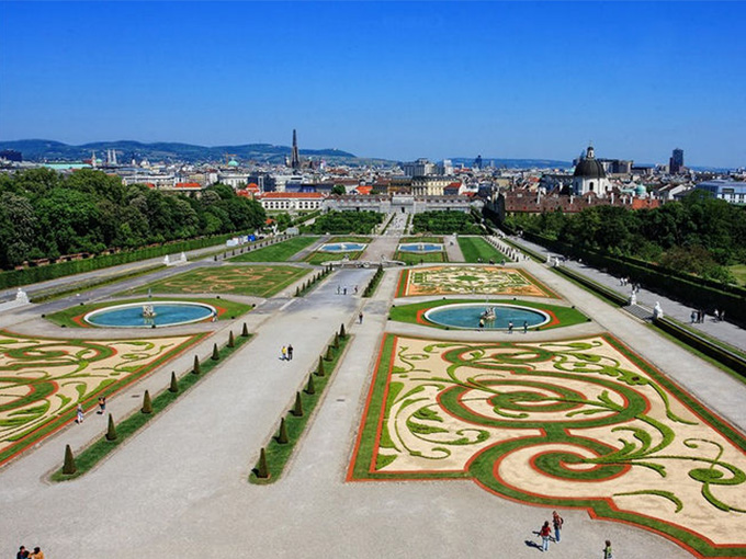 Вена, сад Бельведера