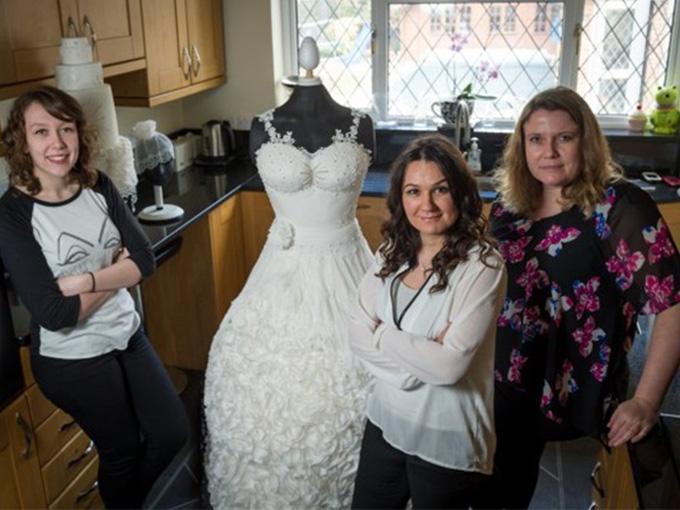 Съедобное свадебное платье