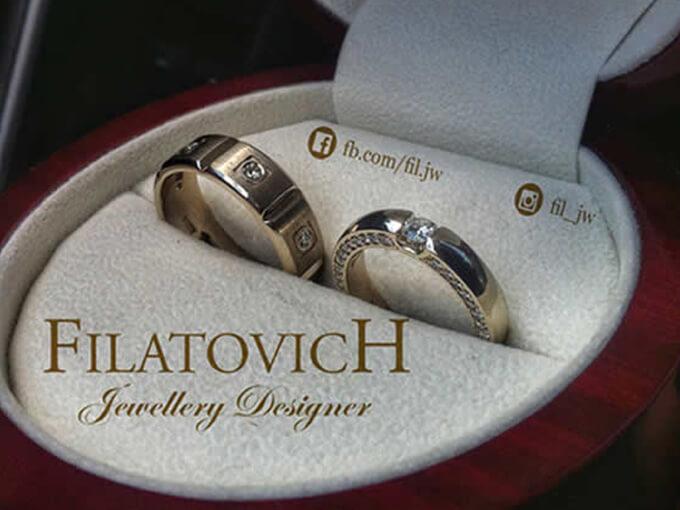 Обручальные кольца от бренда Filatovich