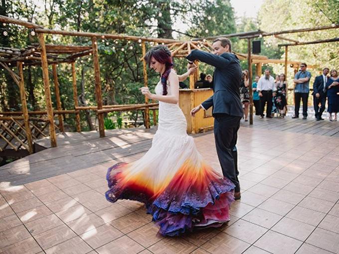 Энн Тейлор в своем свадебном платье