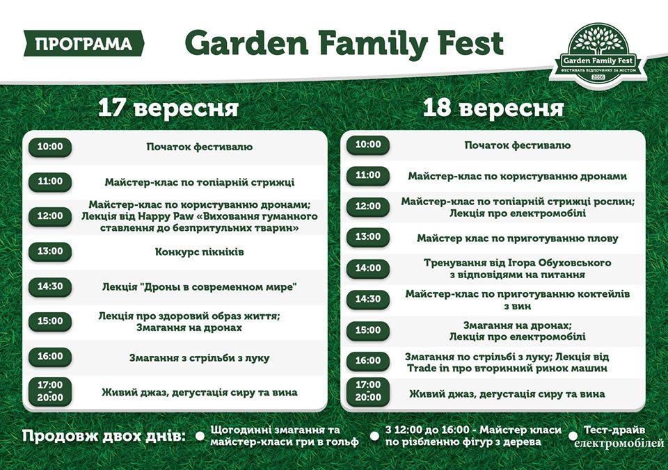 Пикник вместе с Garden Family Fest!