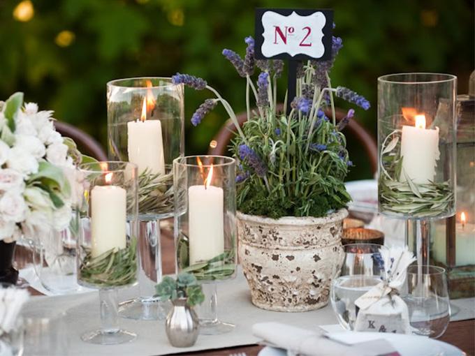 Романтические свечи для свадьбы дома