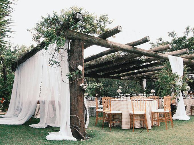 Свадьба на природе - пример декора
