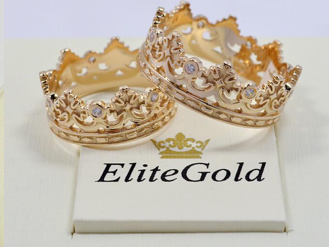 Обручальные кольца-короны