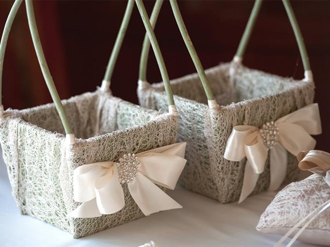 как сделать корзинку для свадьбы