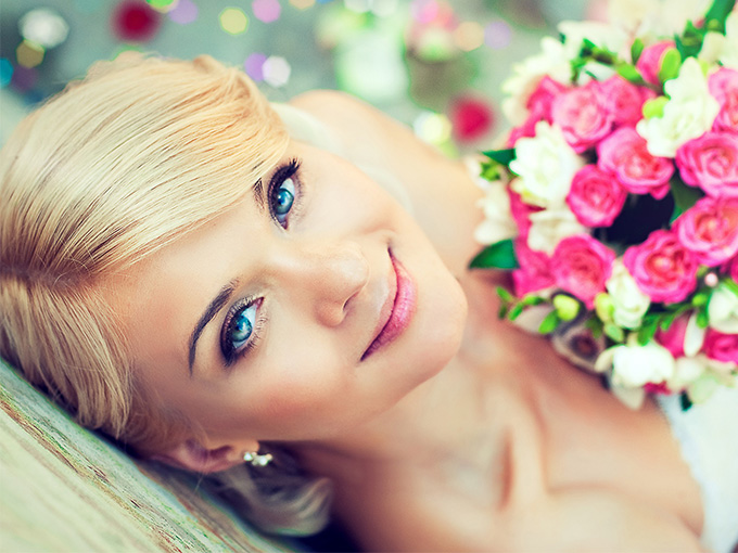 Макіяж на весілля своїми руками для блондинки