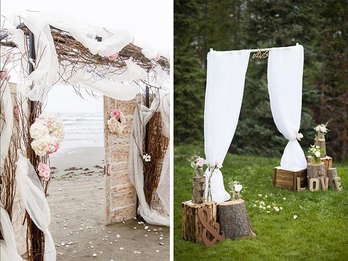 Весільна арка зроблена своїми руками