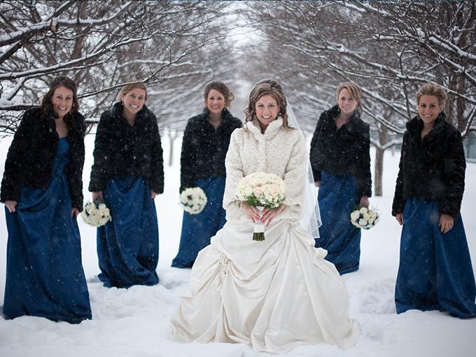 Свадебная фотосессия зимой