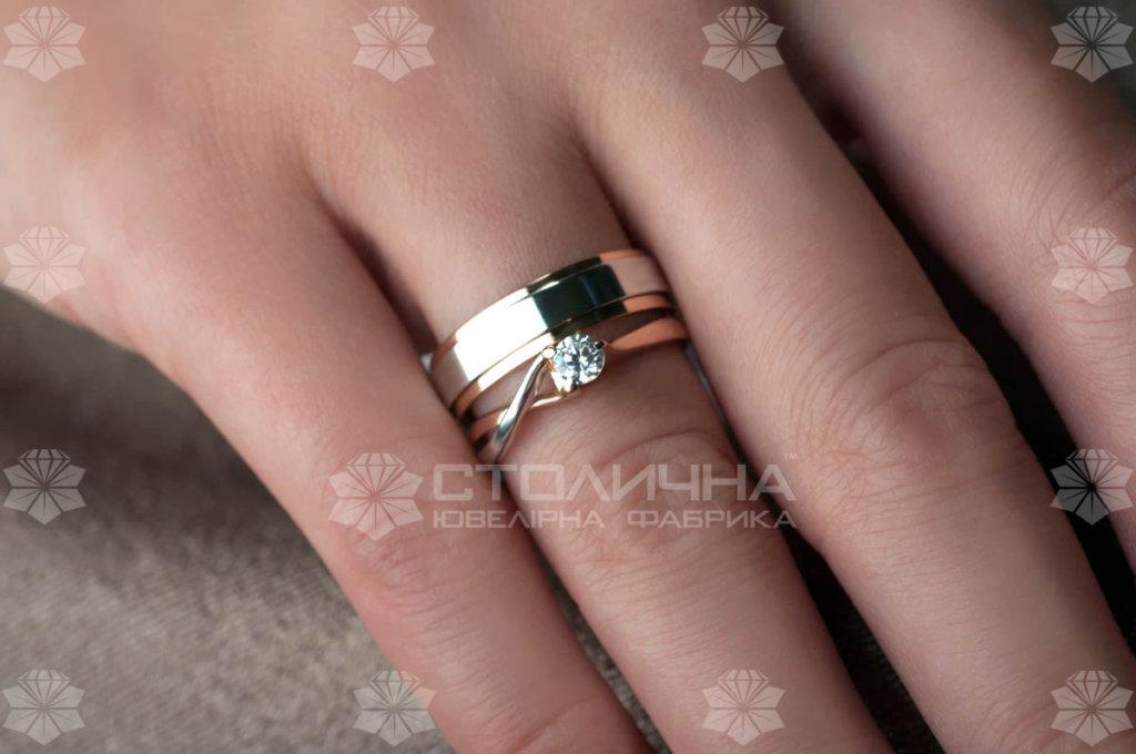 Помолвочное плюс обручальное кольцо